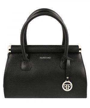 Borsa donna nera Fantini Made in Italy vera pelle borsa a mano in pelle Fantini
