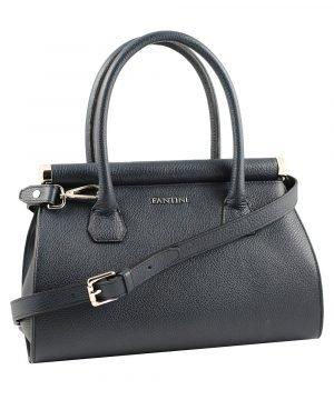 Borsa donna blu scuro Fantini borsa a mano in pelle con tracolla regolabile in pelle made in italy borse artigianali italiane