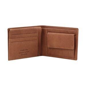Portafoglio in pelle - portafoglio in cuoio portamonete - portafoglio in pelle con portamonete