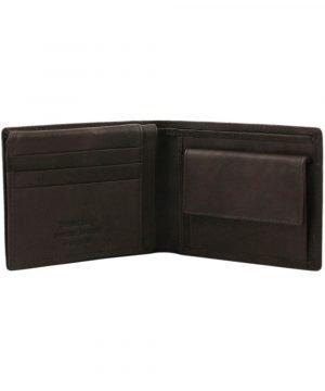 Portafoglio in pelle marrone - portafoglio cuoio - portafoglio portamonete