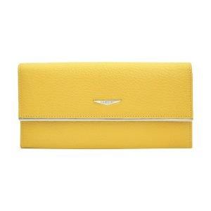 Portafoglio Fantini donna vera pelle giallo elegante portatessere in pelle Made in Italy Italia