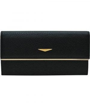 Portafoglio Fantini donna vera pelle nero elegante portatessere in pelle Made in Italy Italia