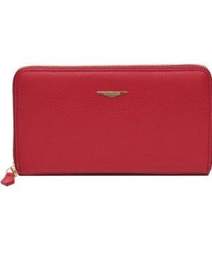 Portafoglio Fantini donna rosso cerniera made in italy portafoglio rosso