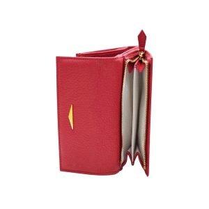 Portafoglio Fantini donna portamonete cerniera vera pelle Made in Italy fatto a mano rosso