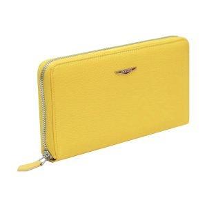 Portafoglio Fantini donna giallo cerniera esterna made in italy portafoglio italiano in pelle