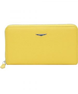 Portafoglio Fantini donna giallo pelle cerniera made in italy portafoglio Fantini