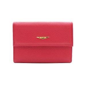 Portafoglio Fantini donna rosso in pelle Made in Italy portafoglio Fantini