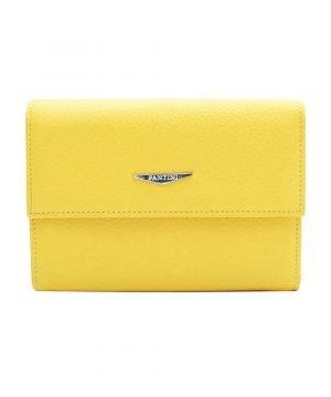 Portafoglio Fantini donna giallo in pelle Made in Italy portafoglio Fantini