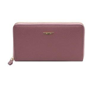 Portafoglio Fantini donna rosa antico cerniera made in italy portafoglio italiano