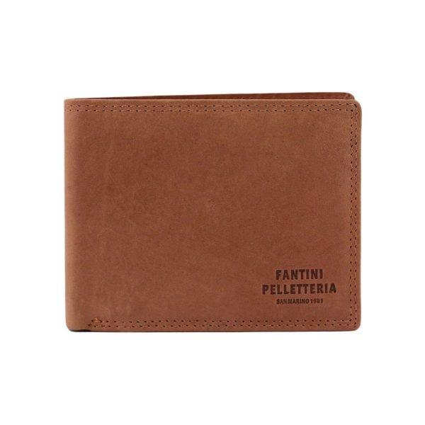 Portafoglio in pelle cuoio - portafoglio pelle sottile - portafoglio in pelle Fantini Pelletteria