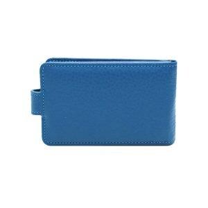 Retro portatessere donna azzurro molte carte chiusura bottone Made in Italy