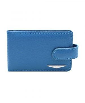 Portatessere pelle donna azzurro Fantini qualità Made in Italy portacarte Fantini