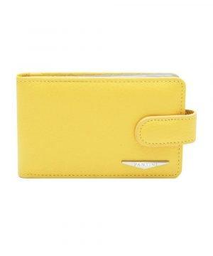 Portatessere pelle donna giallo Fantini qualità Made in Italy portacarte Fantini