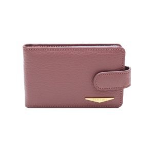 Portatessere pelle donna rosa scuro Fantini qualità Made in Italy portacarte Fantini