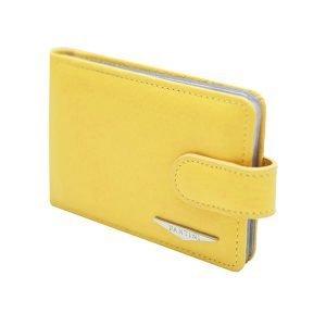 Portatessere donna pelle giallo Fantini alta qualità Made in Italy portacarte Fantini compartimenti interni