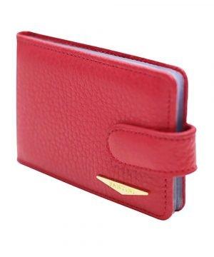 Portatessere donna pelle rosso Fantini alta qualità Made in Italy portacarte Fantini compartimenti interni