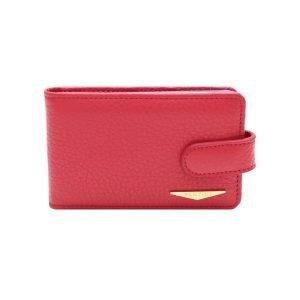 Portatessere pelle donna rosso Fantini Made in Italy portacarte Fantini