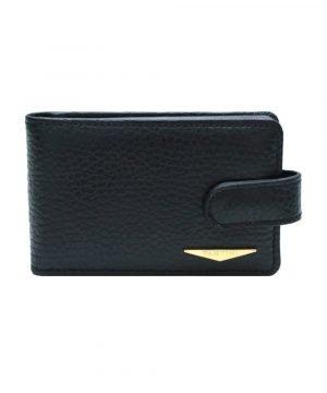 Portatessere pelle donna nero Fantini qualità Made in Italy portacarte Fantini