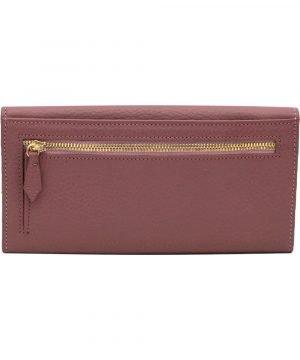 Retro portafoglio donna rosa scuro pelle portamonete con cerniera esterna