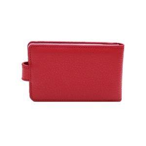 Retro portatessere donna rosso molte carte chiusura bottone sicura