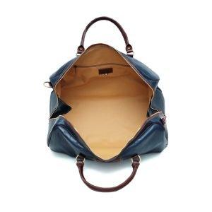 Compartimenti interni borsone in pelle da viaggio bagaglio a mano in pelle borsa palestra cuoio