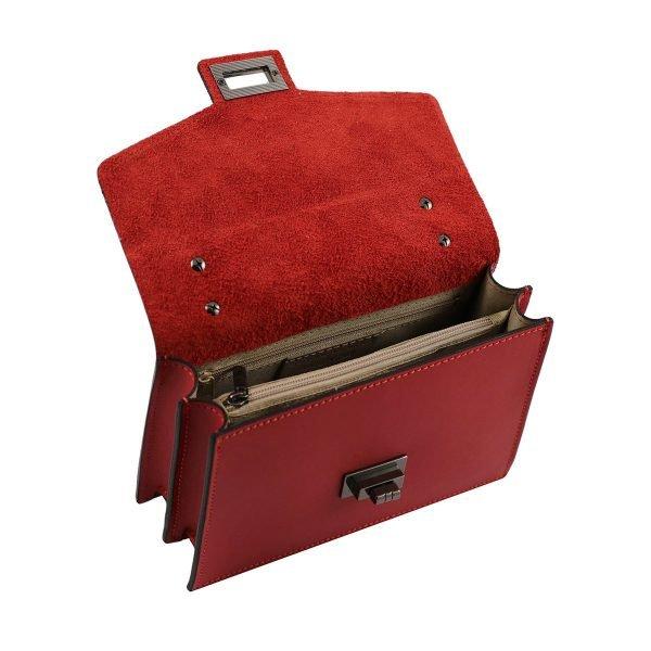 Borsetta a tracolla compartimenti interni cerniera interna borsetta con catena
