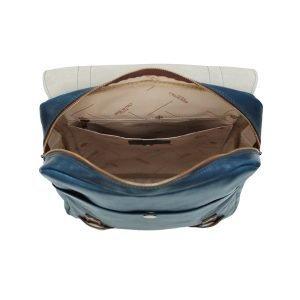 Zaino tasche interne compartimenti zaino Made in Italy vera pelle