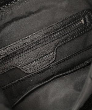 Tasche interne zaino donna in pelle nero Fantini Pelletteria