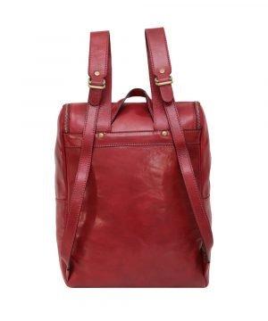 Zaino schienale pelle rosso Made in Italy
