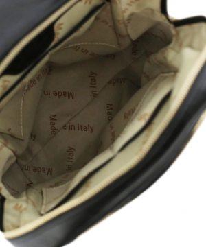 Interno zaino in pelle - compartimenti di zaino in pelle - zaino made in italy