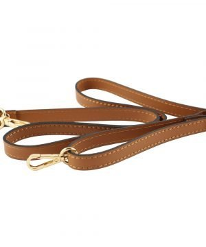 Tracolla in pelle marrone di borsa piccola elegante