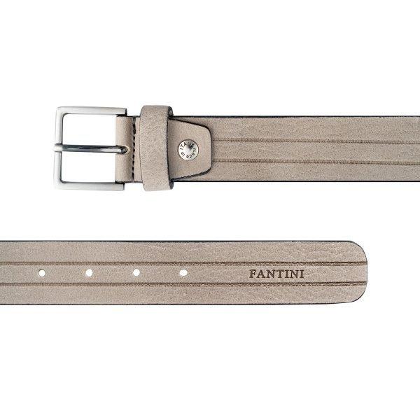 Cintura uomo Fantini pelle grigia Made in Italy