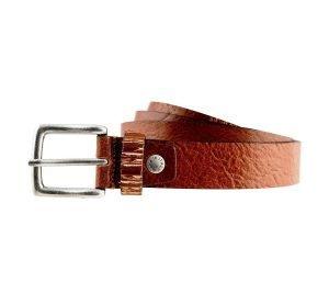 Cintura in pelle marrone chiaro Fantini