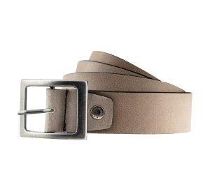 Cintura in pelle grigia Made in Italy pelle morbida