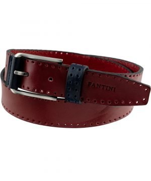 Cintura in pelle bordeaux Fantini vera pelle Made in Italy