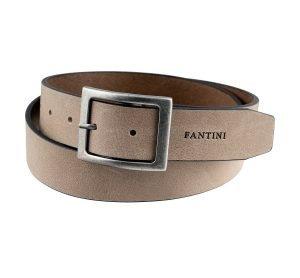 Cintura Fantini Made in Italy grigia vera pelle