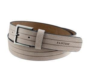 Cintura in pelle grigia chiaro vera pelle Made in Italy Fantini