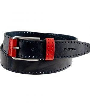 Cintura Fantini in pelle Made in Italy colore Blu scuro