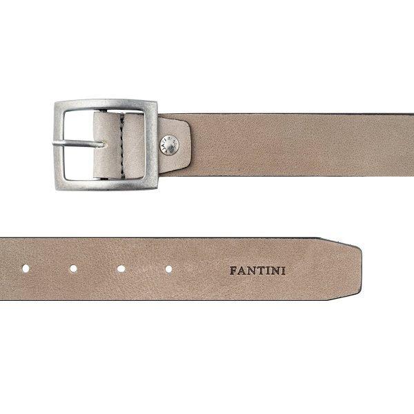 Cintura uomo in pelle Fantini colore grigio vera pelle Made in Italy