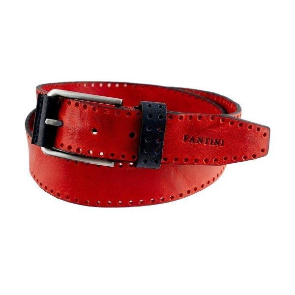 Cintura in pelle rossa Fantini Made in Italy