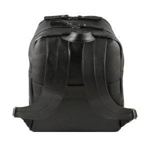 Retro zaino in pelle uomo nero Fantini Pelletteria Made in Italy spallacci larghi