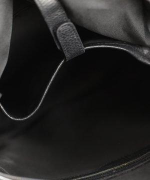Interno zaino nero Fantini Pelletteria vera pelle