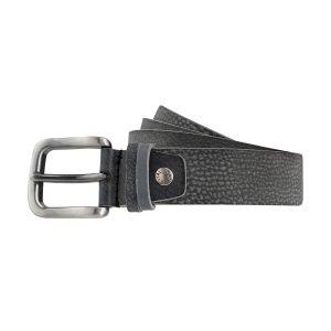 Cintura pelle uomo nero grigio scuro fibbia quadrata pelle morbida Made in Italy
