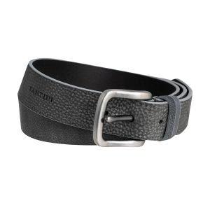 Cintura pelle uomo nero grigio scuro Fantini fibbia quadrata pelle morbida Made in Italy passante in pelle regolabile
