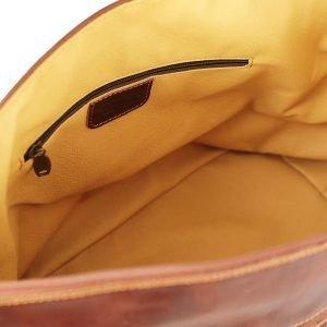 Interno borsa da viaggio in pelle tasca interna cerniera
