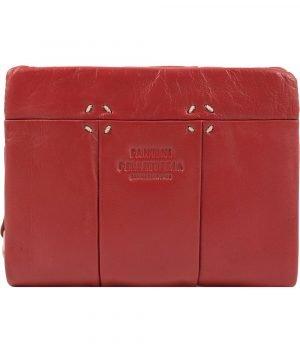 Portafoglio piccolo donna rosso in vera pelle Fantini Pelletteria, portafoglio donna pelle morbida, portafoglio artigianale donna Fantini Pelletteria