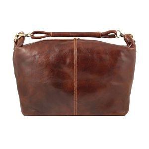 Borsa viaggio piccola bagaglio a mano in pelle vero cuoio Firenze Made in Italy, borsone artigianale fatto a mano in cuoio