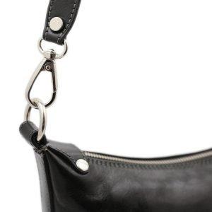 Tracolla nera - borse cuoio tracolla - borsa tracolla donna