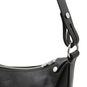 Tracolla nera - borse postina - borsette particolari - borsa a tracolla