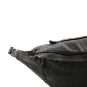 Marsupio nero in vera pelle. Marsupio Made in Italy e artigianale.